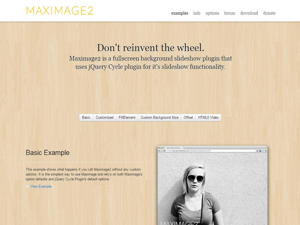フルスクリーンで背景を表示するスライドショーにも対応可能なjQueryプラグイン「MaxImage2」