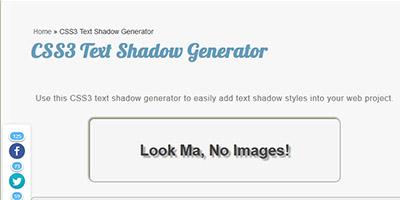 CSS3 Text Shadow Generator