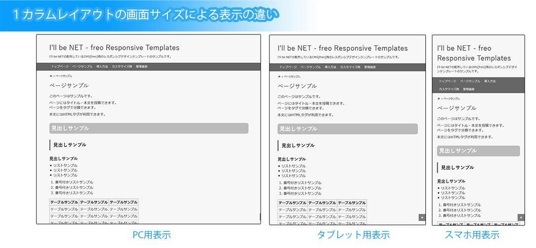 カスタマイズ例 i ll be net freo responsive templates